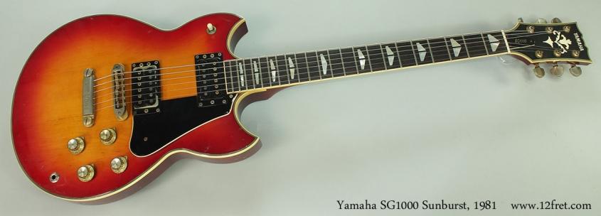 Yamaha SG1000 Sunburst, 1981 Full Front VIew