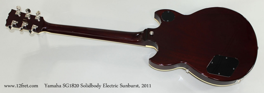 Yamaha SG1820 Solidbody Electric Sunburst, 2011 Full Rear View