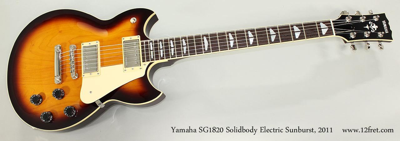 Yamaha SG1820 Solidbody Electric Sunburst, 2011 Full Front View