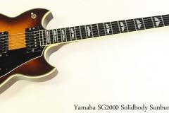 Yamaha SG2000 Solidbody Sunburst, 1982 Full Front View