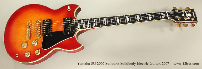 Yamaha SG-2000 Sunburst Solidbody Electric Guitar, 2007 Full Front View