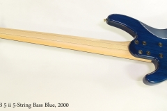 Yamaha TRB 5 ii 5-String Bass Blue, 2000  Full Rear VIew