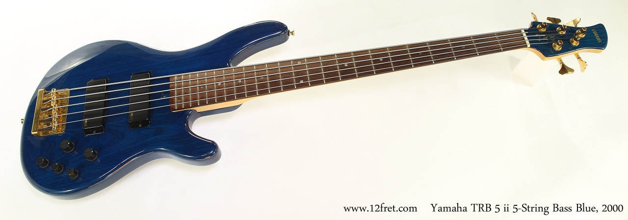 Yamaha TRB 5 ii 5-String Bass Blue, 2000  Full Front View