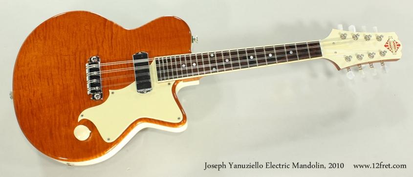 Joseph Yanuziello Electric Mandolin, 2010 Full Front View