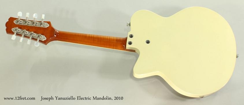 Joseph Yanuziello Electric Mandolin, 2010 Full Rear View