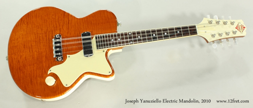 Joseph Yanuziello Electric Mandolin, 2010 Full Front View