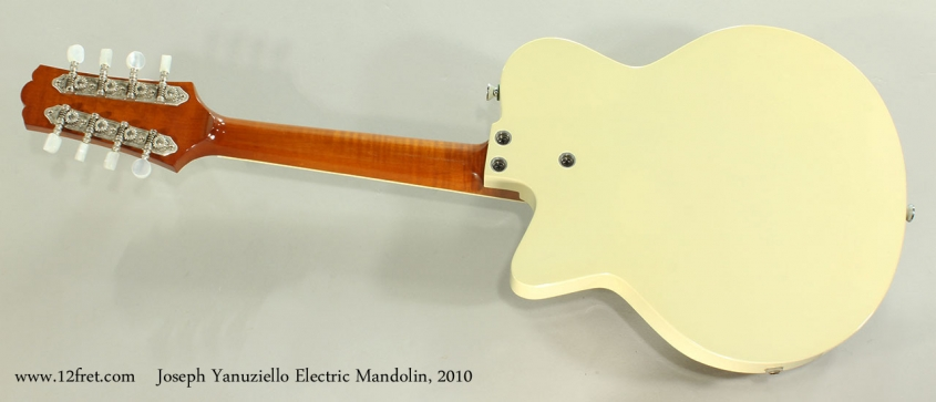 Joseph Yanuziello Electric Mandolin, 2010 Full Rear View