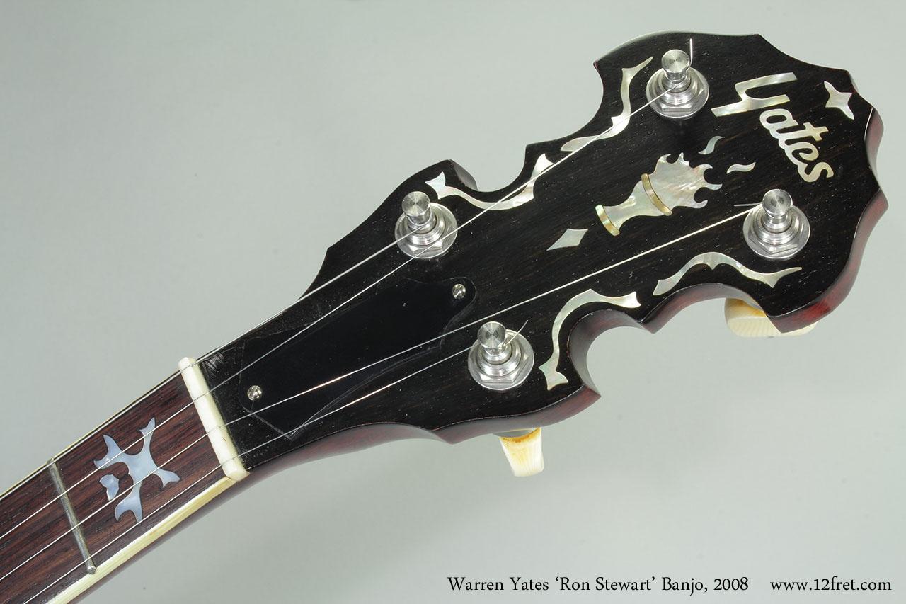 Warren Yates 'Ron Stewart' Banjo, 2008 Head Front