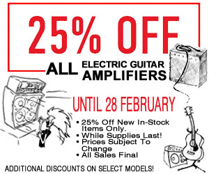 25 Off The Twelfth Fret In Stock Amps