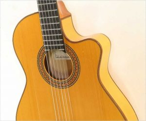 ❌SOLD❌  Alhambra 7FS CT E2 Thinline Cutaway Flamenco Guitar Natural, 2010