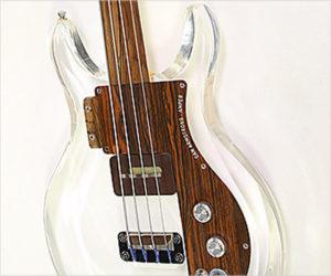 SOLD!!! Ampeg Dan Armstrong Plexiglass Fretless Bass, 1969