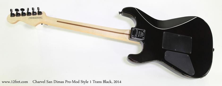 Charvel San Dimas Pro-Mod Style 1 Trans Black, 2014 - The Twelfth Fret
