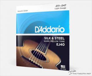D'Addario Acoustic Guitar Silk & Steel Strings EJ40