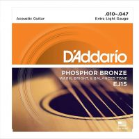 D'Addario EJ15 Phosphor Bronze Acoustic Guitar Strings, Extra Light, 10-47 - The Twelfth Fret