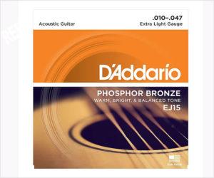 D'Addario EJ15 Phosphor Bronze Acoustic Guitar Strings, Extra Light, 10-47