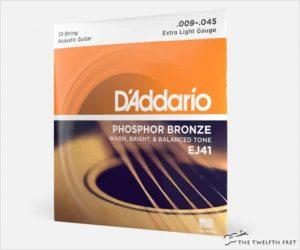 D'Addario EJ41 Phosphor Bronze Extra Light 12-String Acoustic Strings