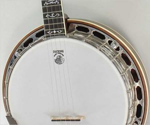 Deering Golden Wreath Banjo in Walnut