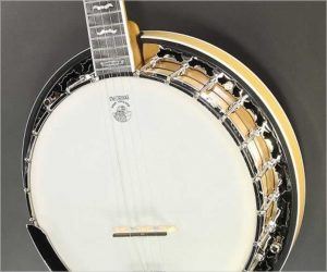 Deering White Lotus 5 String Banjo White Oak