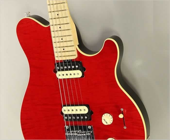 Ernie Ball Music Man Axis Super Sport HardTail Trans Red, 2016 - The Twelfth Fret