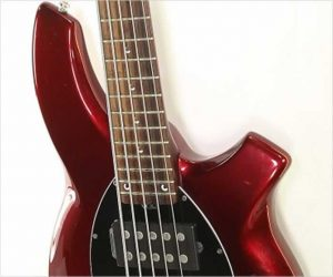 ❌SOLD❌   Ernie Ball Music Man Bongo 5 HH Bass Burgundy, 2011