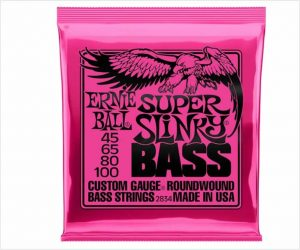 Ernie Ball Super Slinky Nickel Wound Electric Bass Strings (45-100)
