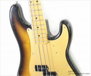 Fender 57 Reissue Precision Bass Sunburst, 1982