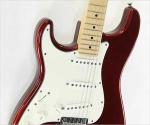 ❌SOLD❌ Fender American Standard Strat Left Handed Metallic Red, 2007
