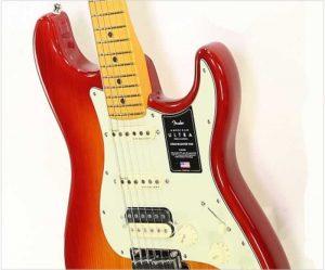 Fender American Ultra Stratocaster HSS Maple Neck Plasma Red Burst - The Twelfth Fret