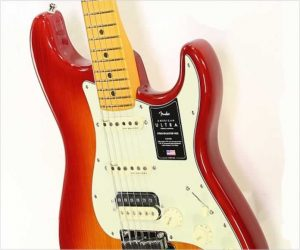 Fender American Ultra Stratocaster HSS Maple Neck Plasma Red Burst
