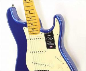 Fender American Ultra Stratocaster Maple Neck Cobra Blue, 2019