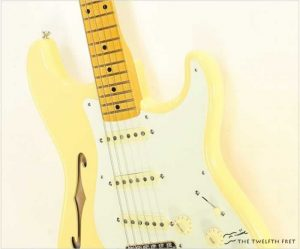 Fender Eric Johnson Thinline Signature Stratocaster Vintage White - The Twelfth Fret