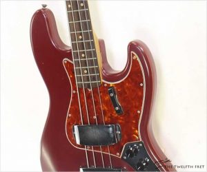 Fender Jazz Bass Burgundy Refinish, 1962