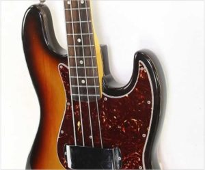 Fender Jazz Bass Refinished Sunburst, 1966 - The Twelfth Fret