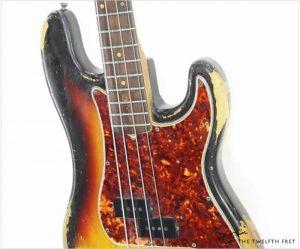 Fender P Bass Rosewood Board Sunburst 1963 - The Twelfth Fret