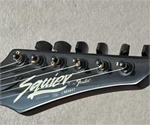Fender Squier HM 5 headstock Chip Repair - The Twelfth Fret
