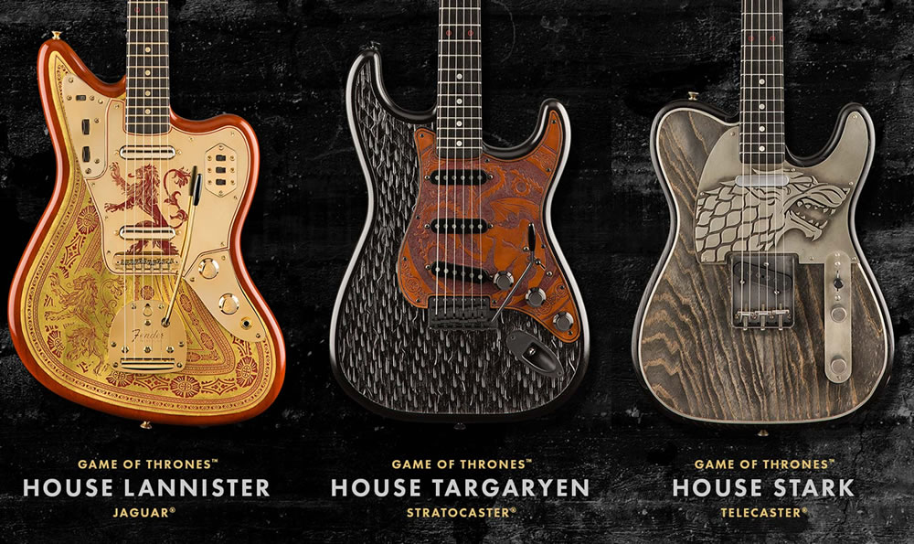 Fender Custom Shop Game of Thrones Sigil Collection Series