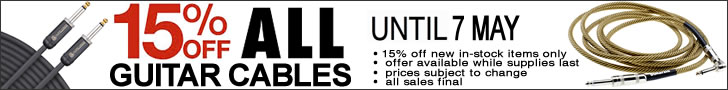 Special - 15% Off All Guitar Cables - The Twelfth Fret