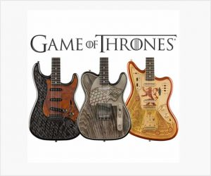 Fender Custom Shop Game of Thrones Sigil Collection Series with Trio of Elaborate Guitars