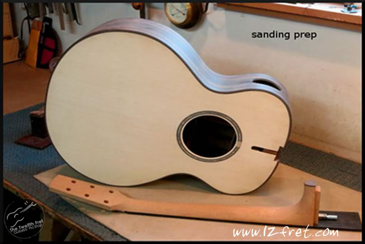G.W. Modified Concert Zircote Steel String guitar