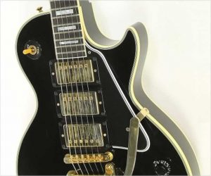 ❌SOLD❌  Gibson 57 Les Paul Custom Reissue 3 Pickup Bigsby Ebony, 2011
