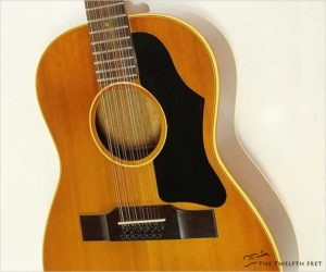 Gibson B25-12 12 String Acoustic Guitar with Pickup, 1965