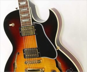 ❌SOLD❌  Gibson ES137 Thinline Archtop Electric Sunburst, 2004