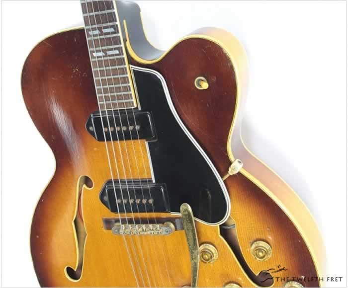 Gibson ES350T Short Scale Archtop Electric Sunburst, 1956 - The Twelfth Fret