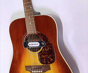 SOLD!!! Gibson J-45 Steel String Sunburst with deArmond Pickup, 1970