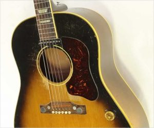 Sold‼️ Gibson J160E Steel String Guitar Sunburst, 1956