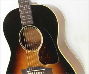 Gibson LG-1 Ladder Braced Steel String Guitar Sunburst, 1953 - The Twelfth Fret