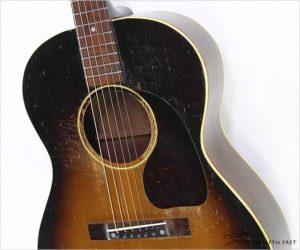 Sold!   Gibson LG1 Steel String Guitar Sunburst, 1949