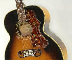 Gibson SJ-200 Steel String Guitar Sunburst, 1954