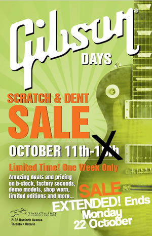 Gibson Days! Scratch and Dent Sale - The Twelfth Fret