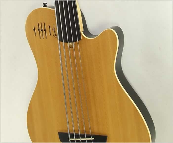 godin a5 fretless 5 string bass natural 2006. Black Bedroom Furniture Sets. Home Design Ideas